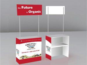 booth sampling quầy bán hàng lưu động bằng nhựa